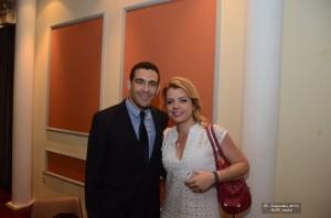 Ο κ. Αντωνέλος με την κα Κατερίνα Φραγκάκη, Δικηγόρο, Νομική Σύμβουλο Ιατρικού Συλλόγου Αθηνών και Δημοτική Σύμβουλο Αμαρουσίου